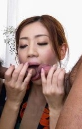 Asian Big Tits Milf Porn - Kaori Maeda Asian in kimono sucks dicks and is nailed in vagina