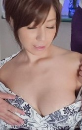 Milf Asian - Chihiro Akino Asian gets cum in and on mouth from sucked boners